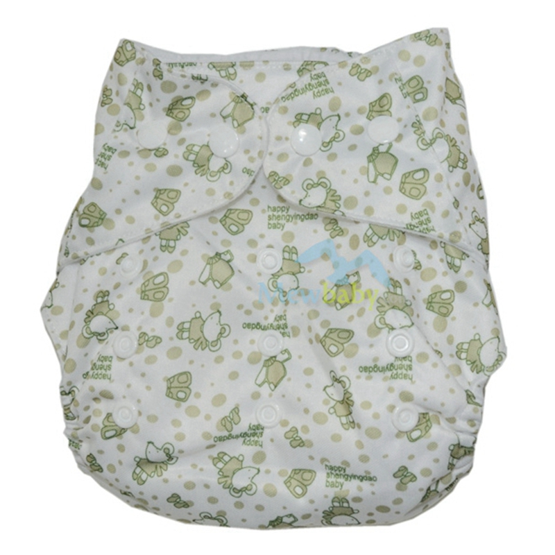 One Size Fits All Baby Reusable Pocket Diaper Washable Diaper Cover With 1pc Microfiber Insert  Suits Birth To Potty ET21