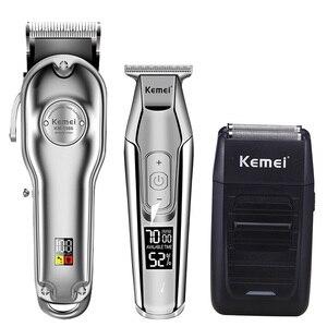 Image 3 - Kemei hair clipper electric hair trimmer barber hair cutter mower hair cutting machine kit combo KM 1987 KM 1986 KM 5027 KM 1102