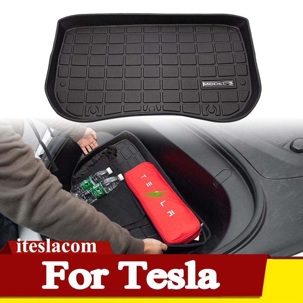 Лидер продаж! Коврик Model3 2021Mat для переднего и заднего багажника, коврики для хранения Tesla Model 3, аксессуары 2017-2021, коврик для багажника автомоб...