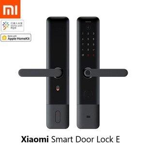 New Xiaomi Mijia Smart Door Lock E Fingerprint Password Bluetooth Unlock Detect Alarm Work Mi Home App Control with Doorbell(China)