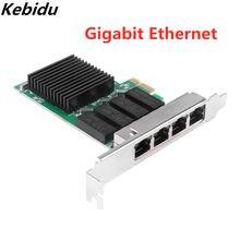 Porta rápida pci da placa de rede 4 rj45 pci-e do gigabit do porto do adaptador 4 da rede do expresso de internet pci com realtek 8111h txa066