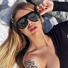 Black Pilot Sunglasses Women Men Oversized Vintage Brand Sexy Leopard Sun glasse