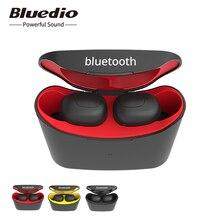 Bluedio T elf מיני TWS אוזניות Bluetooth 5.0 ספורט אוזניות אלחוטי אוזניות עם טעינת תיבת עבור טלפונים