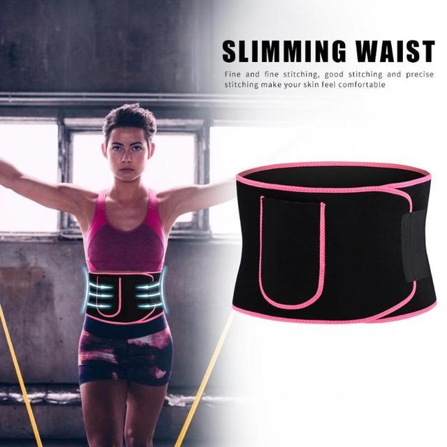Adjustable Pocket Fitness Waist Belt Neoprene Weight Loss Slimming Sweat Waistband Exercise Belly Body Beauty Waist Support 2