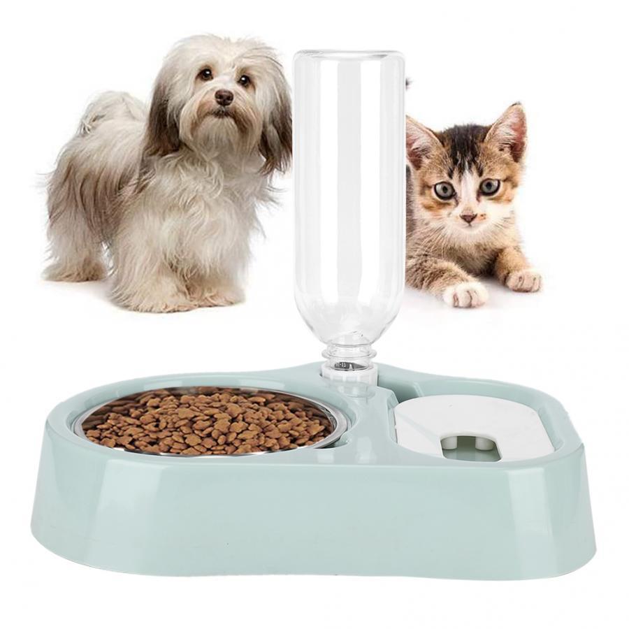 2 in 1 alimentatore per animali domestici gatti automatici Dispenser di acqua ciotole per bere alimenti per animali domestici alimentatore per gatti fontana per acqua forniture per animali domestici 1