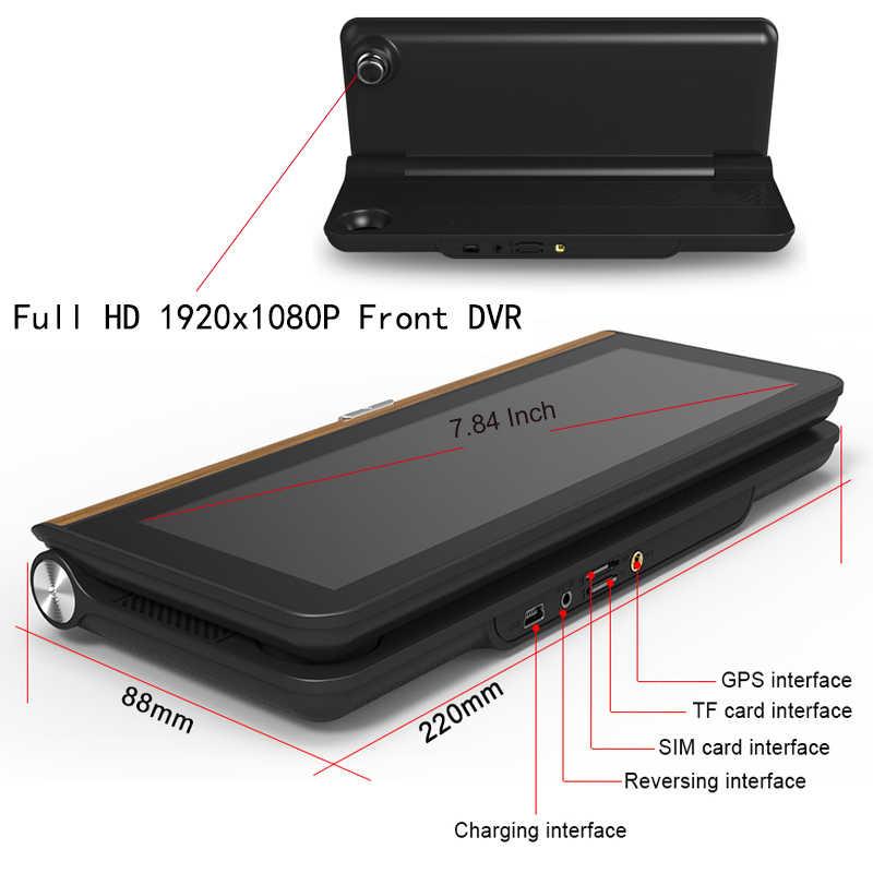 Anfilite 4G Adas Mobil DVR Kamera 8 Inch Android Monitor Parkir Dash Cam Registrar Perekam Video Truk Gps Navigasi