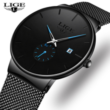 Fashion Men Watches LIGE Casual Waterproof Mesh Steel Army Military Watch Men Simple Date Sport Quartz Watch Relogio Masculino цена