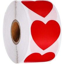 1 дюйм, 500 шт./рулон, наклейка в форме сердца, фотоальбом, альбом для подарков, товары для дня рождения, милая фотонаклейка