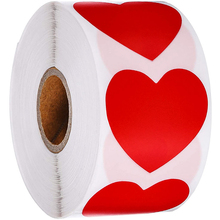 1500pc/roll Heart Shaped Love Sticker Seal Labels Scrapbook for gift Packaging Birthday Party Supplies cute stationery sticker