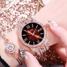 Luxury Full Rhinestone Watches Crystal Fasihon Roman Numeral Calendar D