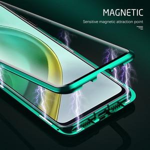 Image 4 - Mi10t פרו מקרה 360 ° מלא כיסוי מתכת מסגרת מגנטי flip כיסוי עבור xiaomi mi 10t פרו 5g 6.67 דו צדדי מזג זכוכית coque
