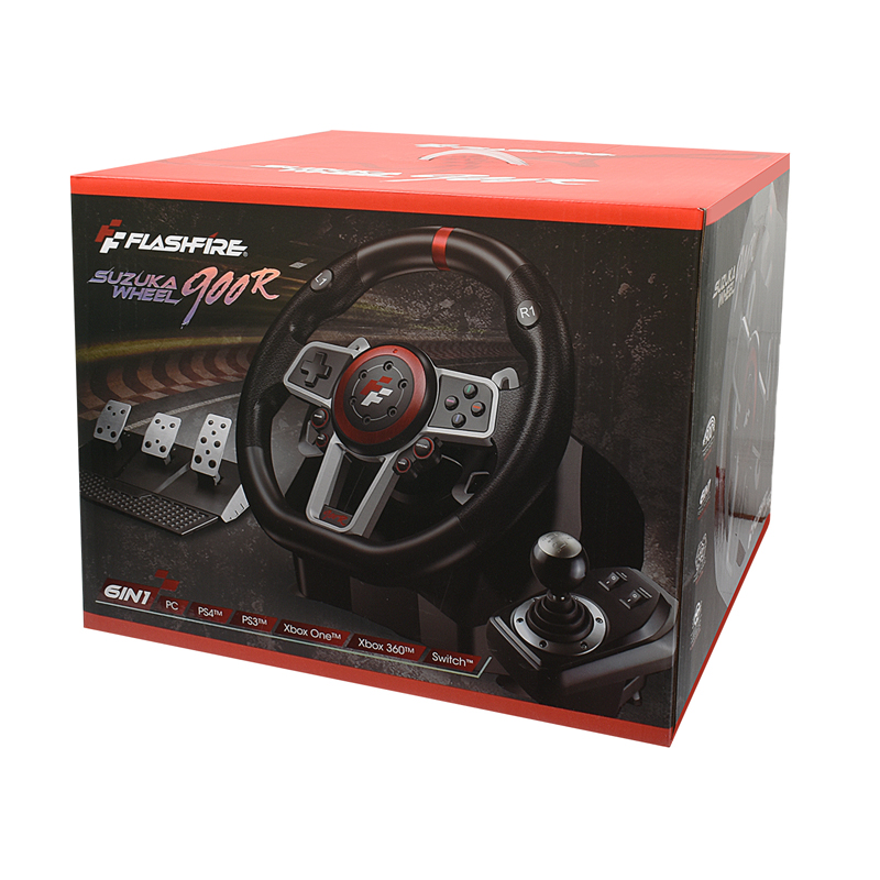 2021 Gamepad Controller Gaming Steering Wheel 900° Racing Video Game Vibration For PC/PS3/PS4/Xbox-One/Xbox 360/N-Switc 6