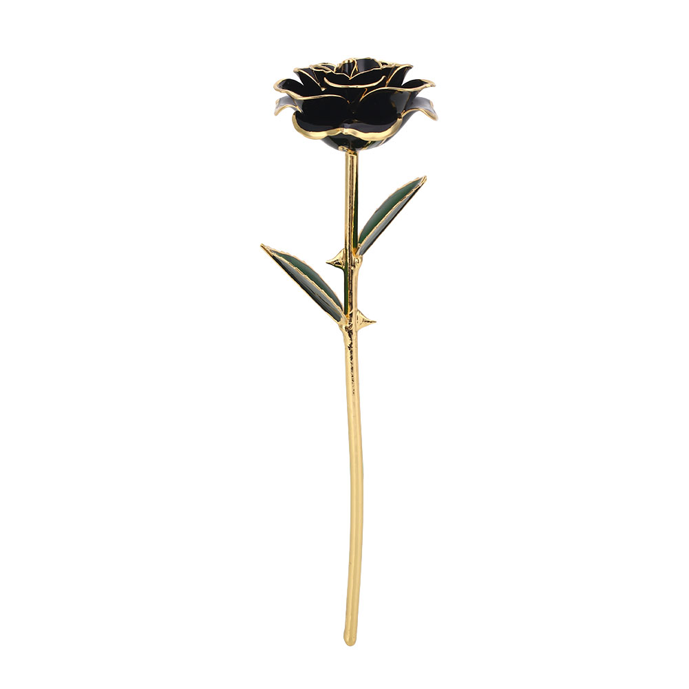 Цветочный декор, искусственный цветок, искусственная Роза, украшение, искусственная имитация, цвет, золотая фольга, 10 цветов, растительный орнамент, фестиваль - Цвет: Black