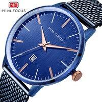 Fox Mini FOCUS Men Simple Waterproof Ultra Thin Fashion Steel Net Belt Calendar Quartz Watch Mf0115g