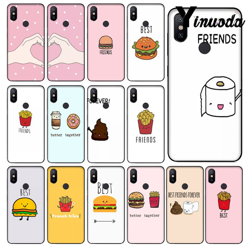 Yinuoda BFF Best Friend Burger and Fries Food Phone Case for Redmi 5 plus Note 5 Note 4 4X Xiaomi Mi Note 3 8 8 SE 6 Mi 6x 6plus image