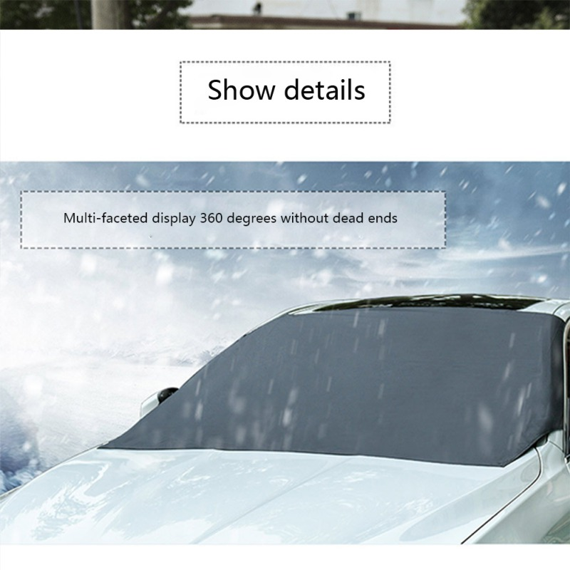 MAGNETIC CAR WINDSCREEN COVER ICE FROST SHIELD SNOW PROTECTOR SUN SHADE VAN NEW