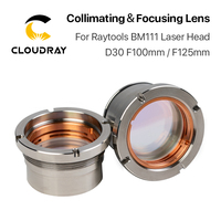 Cloudray BM111 0-3KW Collimating & Focusing Lens D30 F100 F125mm with Lens Holder for Raytools Laser Cutting Head BM111