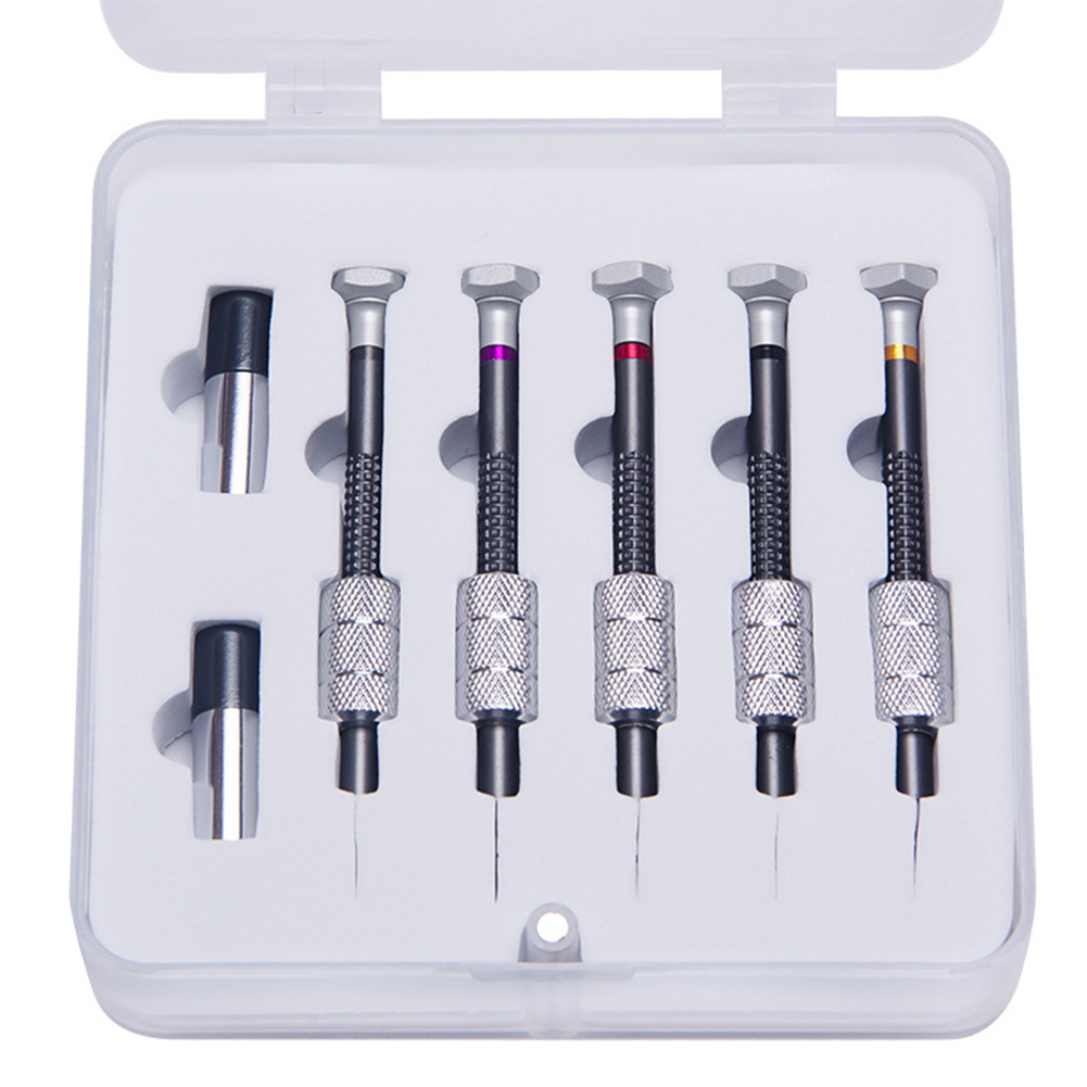 5pcs Screwdriver Set Back Cover Jewelers Watch Repair Tools For Watchmakers Cross High Accuracy Slotted Screw Removal Steel DIY