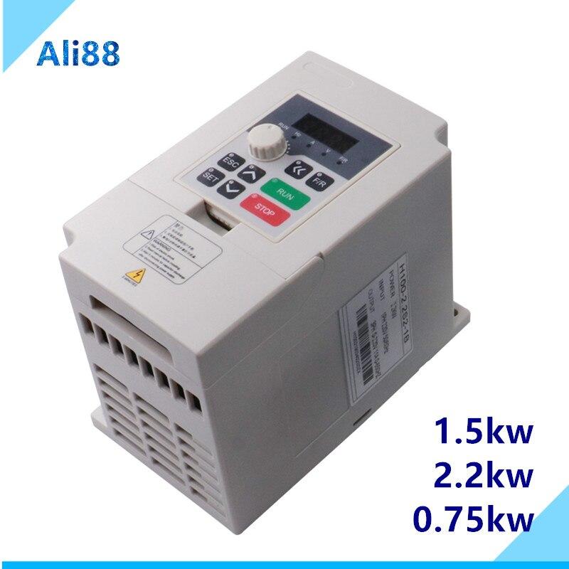 Inwerter silnik CNC regulacja prędkości Vfd 1,5kw 2,2kw 110v 220V 380v nowość dla 1p-Input-3p-Out