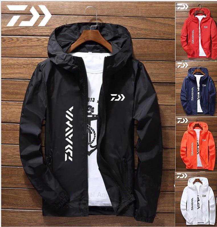 Daiwa Jacket Men Fishing Shirt Solid Thin Uv Protection Clothes Fishing Clothing Summer Breathable Quick Dry Soft Shell Outdoor