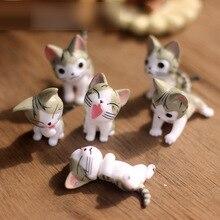6 шт. миниатюрная Статуэтка для кошек террариума и сыра, миниатюрные фигурки для сада, миниатюрные фигурки для украшения сада, миниатюрные фигурки-феи