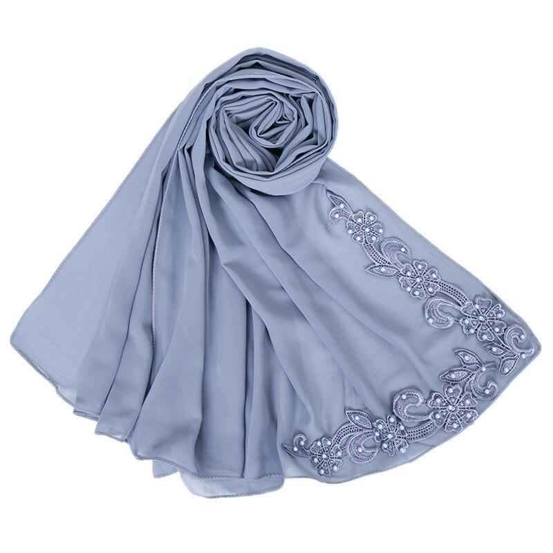 2019 NEW Women Bubble Chiffon Solid Color Muslim Head Scarf Shawls And Wraps Pashmina Bandana Female Foulard Soft Hijab Stores