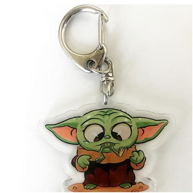Cute Baby Yoda Keychain Star Wars The Mandalorian The Rise of Skywalker Gift
