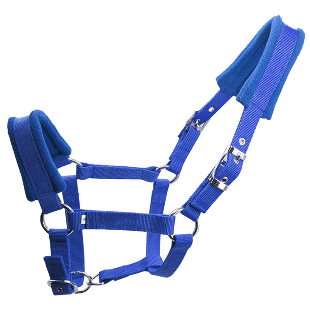 Riding Equipment Multiple Sizes Sports Adjustable Strap Accessories Protective Durable Horse Halter Fleece Padded Thicken