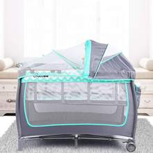 Baby Crib Bedside Bed-Cradle Game-Bed Mosquito-Nets Folding Play Multifunctional Portable