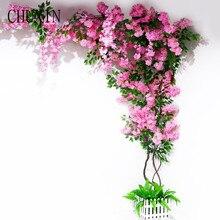 1pc Multi-stil künstliche blume kirschblüte zweig Hause decke rattan hotel projekt landschaftsbau Hochzeit DIY arch decor