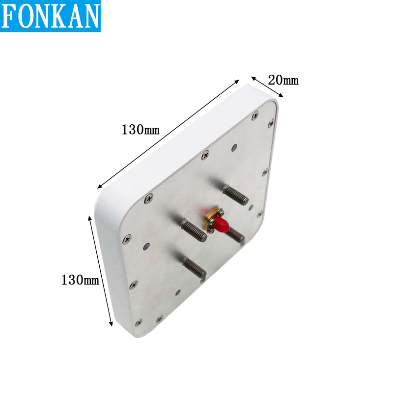 860-960Mhz UHF RFID Antenna 6dBi Gain 130x130x20mm Mini Samll Size High Performance External Passive With SMA Connector
