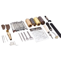 45 Pieces / Set Diy Leather Hand Sewing Tool Set Engraving Set Leather Art Tools