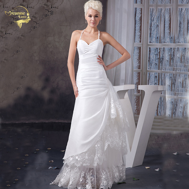 Vestido De Festa Longo Halter Lace Vintage Boho Wedding ...