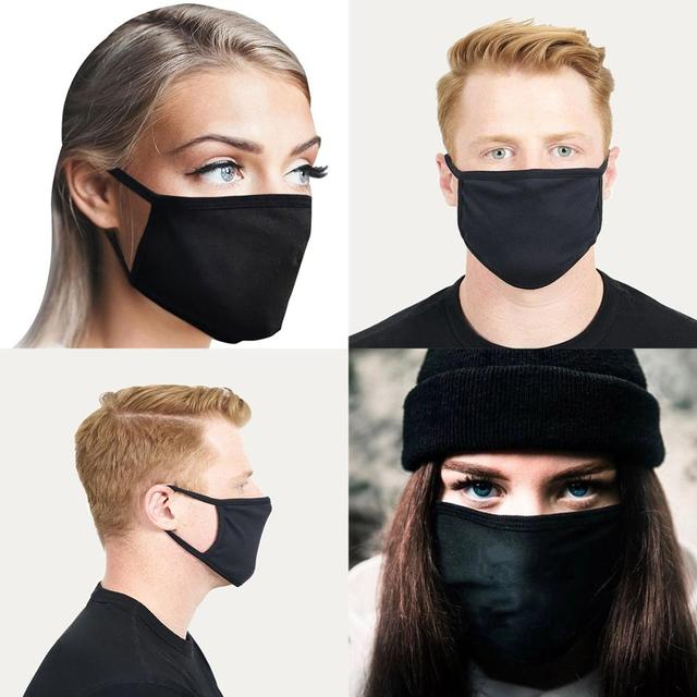 AMG Sports Car Logo Black Printing Washable Breathable Reusable Cotton Mouth Mask 5