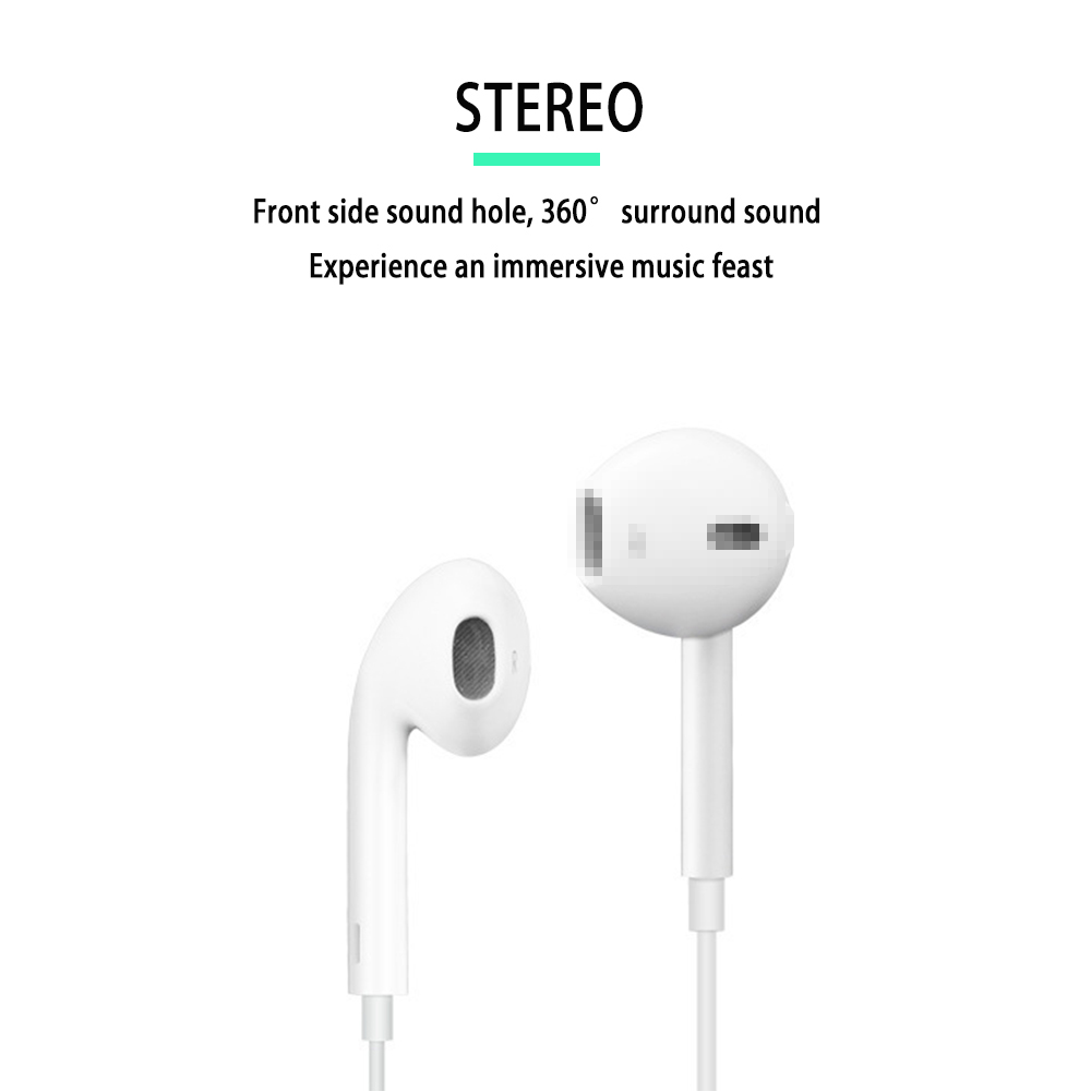 3.5mm Stereo Music Earphones Portable Earphone Wired In-Ear Wired Headse With Microphone Ios Android Auriculares Con Cable