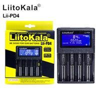 LiitoKala-cargador de batería Lii-PD4 18650, batería de litio NiMH 26650, 21700, 18350, AA, AAA, 3,7 V/1,2 V, pantalla LCD, prueba USB