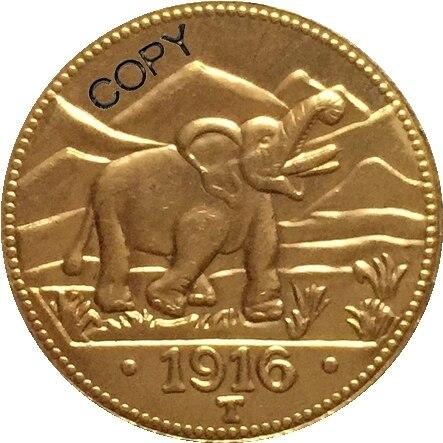 German 1916 15 Rupien coin copy  22mm