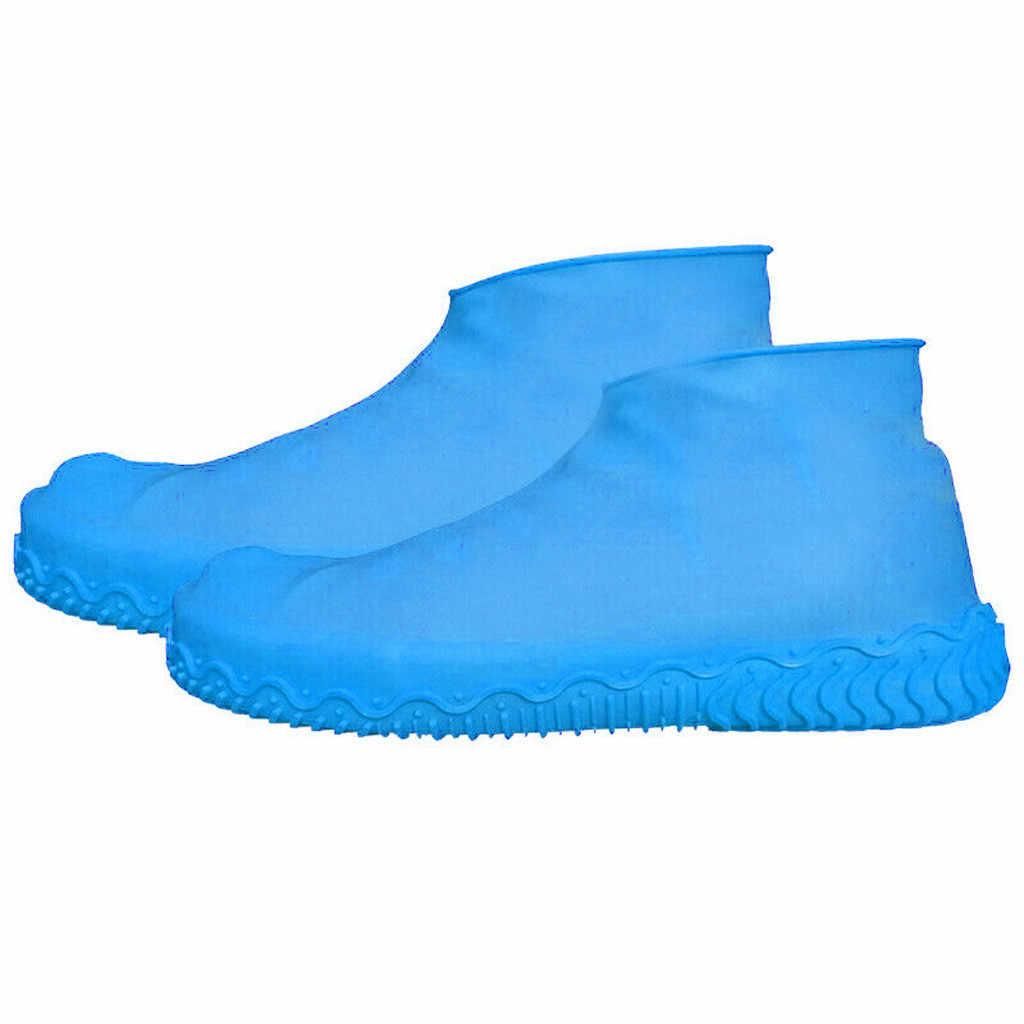 Couvre-chaussures imperméable matériel en Silicone couvre-chaussures unisexe jours pluvieux couvre-chaussures d'extérieur protecteur de couverture de botte Recyclable 7 couleurs
