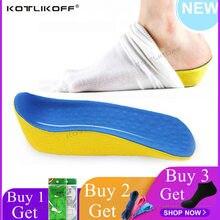 Wysokość zwiększ buty na koturnie wkładka 2.0 cm podnieś Taller In Sock sklepienie łukowe PU klocki winda dla kobiet i mężczyzn buty pielęgnacja stóp