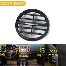 Painel do instrumento do condicionador de ar para a mesa do instrumento de vw tiguan 10 - 17 uma tomada tuyere a/c encaixes dobráveis do respiradouro de ar