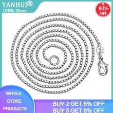 Wholesale 1.4mm Silver 925 Box Chain Necklaces 16