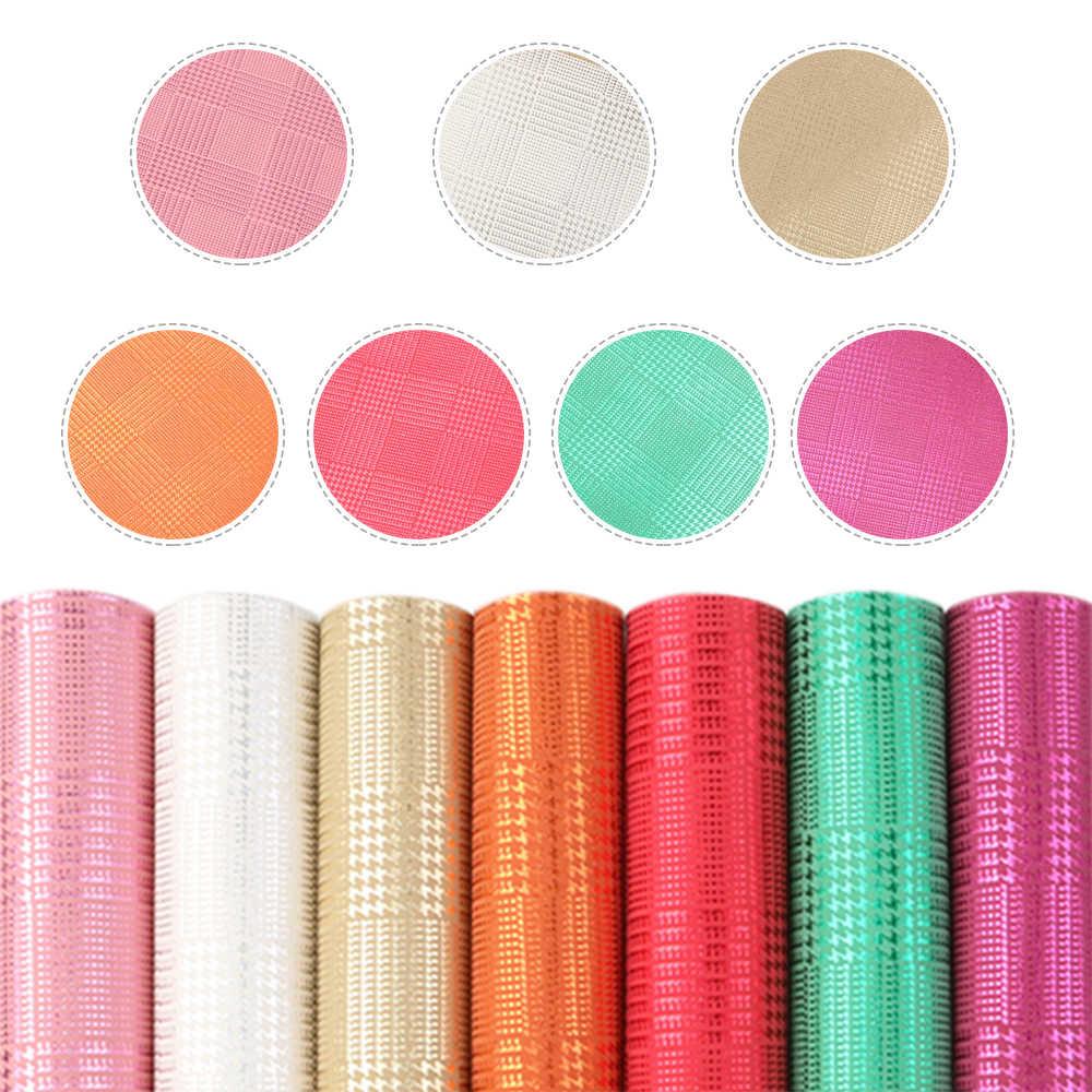 15*21 centimetri 7pcs A5 Formato di Colore Solido In Pelle Sintetica In Pelle Set Tessuto Lenzuola per Archi FAI DA TE Fatti A Mano materiali Artigianato, 1Yc10515