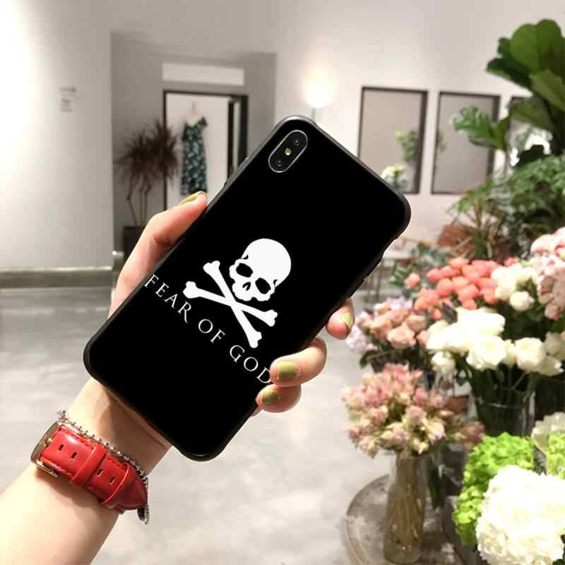 NBDRUICAI American street brand fear or god Coque Shell Phone Case for iPhone 11 pro XS MAX 8 7 6 6S Plus X 5S SE XR case