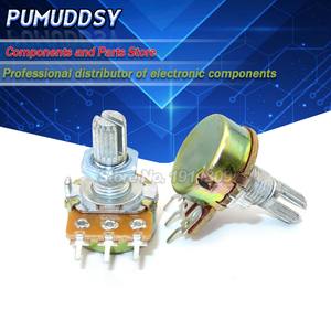 5PCS WH148 3pin B1K B2K B5K B10K B20K B50K B100K B250K B500K B1M Potentiometer 15mm Shaft With Nuts And Washers