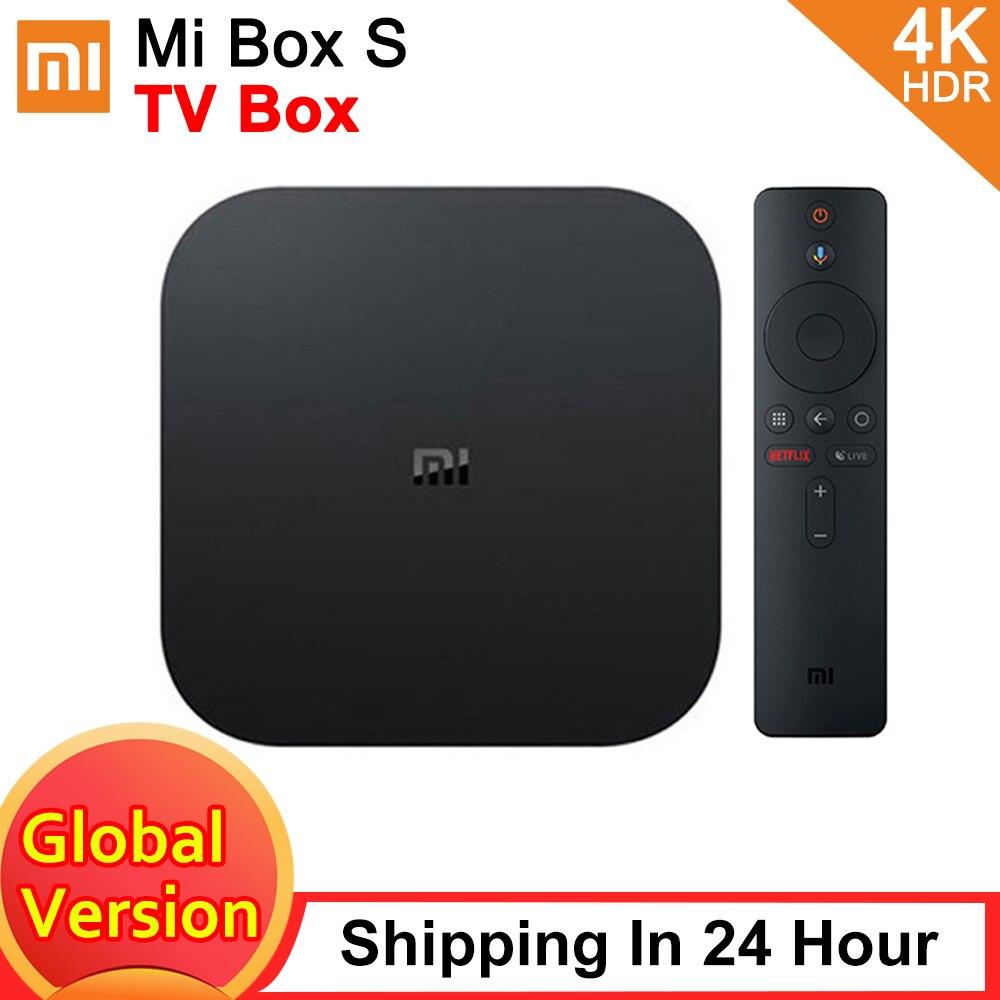 Original Xiaomi Mi TV Box S Global Version 4K HDR Android TV Streaming Media Player Google Assistant Remote Smart Mi TV Stick 2K|Set-top Boxes|   - AliExpress