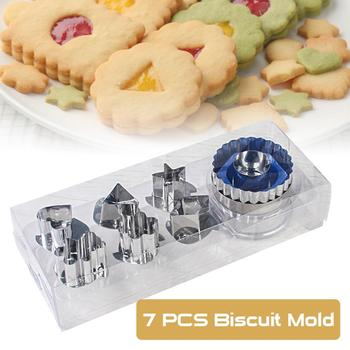 7pc/set Baking Moulds  Cookie Cutters Set DIY Mold Stainless Steel Biscuit Eco-Friendly Cake Fondant Tools