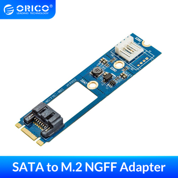 ORICO SATA 7PIN to M.2 NGFF Adapter With Power SSD Adapter SATA to M.2 Adapter For 2242 2260 2280 Include Power Card Adapter