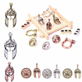 1/2/3/4PCS Paracord Beads Metal Charms For Paracord Bracelet Accessories DIY Pendant Buckle Paracord Knife Lanyards 1pc chinese dragon metal beads camping alloy for outdoor knife bracelet diy paracord accessories