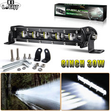Co Licht Off Road Led Bar 8 Inch 30W 4X4 Werk Licht 6D Drl Auto Led Verlichting bar Voor Auto Tractor Lada Niva Vaz Suv Atv Led 12V 24V(China)