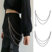 Chaîne de taille en métal pour pantalons, Punk Rock hommes femmes, porte-clés grand anneau portefeuille Jeans unisexe Hip-hop, accessoires bijoux